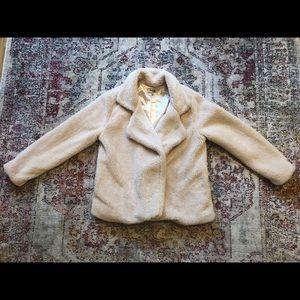Charlotte Russe Beige Teddy Bear Coat Size XL